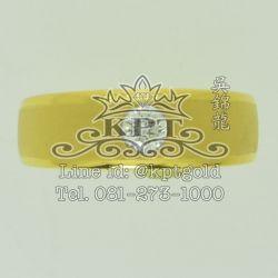 แหวนทองฝังเพชร 0.18 กะรัต Color G(97) VS1