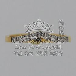 แหวนเพชรแถวทรงปีกนก 0.155 กะรัต EF(99-98) VVS