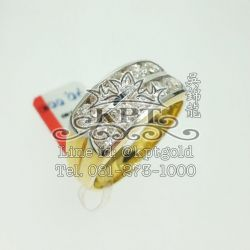 แหวนเพชร2แถว เพชร 1.315 กะรัต 10 เม็ด น้ำ 100-99 VVS ขาวสะอาดเล่นไฟ