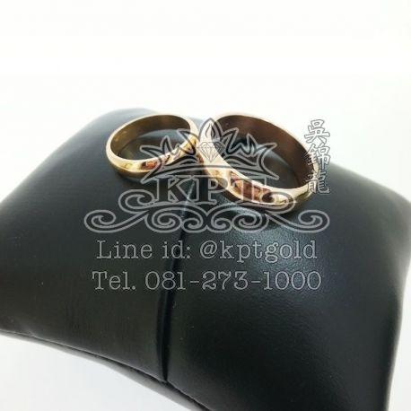 งานสั่ง แหวนคู่ Pink gold