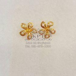 ต่างหูทอง90% ดอกพิกุลทอง